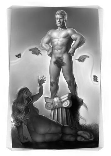 1 a 2 homem pedestal mulher embaixo